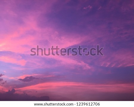 colorful sky and sunset #1239612706
