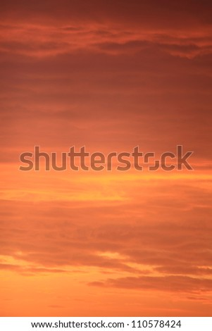 Colorful sky at sunset abstract orange sunset