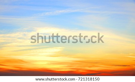 Colorful sky background.                               #721318150
