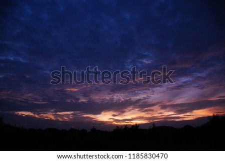 Colorful sky in twilight time background, Twilight sky with cloud #1185830470