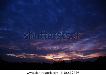 Colorful sky in twilight time background, Twilight sky with cloud #1186619449