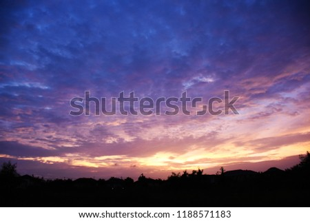 Colorful sky in twilight time background, Twilight sky with cloud #1188571183