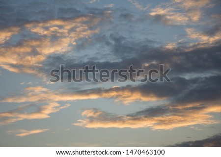 Colorful sky in twilight time background, Twilight sky with cloud #1470463100