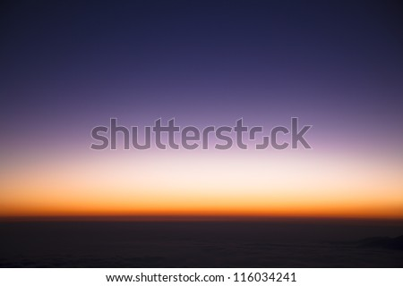 colorful sky  just before sunrise