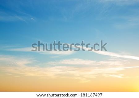 Colorful sky. Natural landscape. #181167497