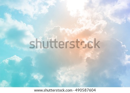 colorful sky with cloud abstract background - Shutterstock ID 490587604