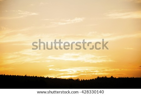 colorful sky with cloud at sunset #428330140