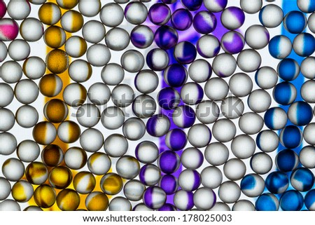 Colorful small balls abstract with delicate texture on the balls