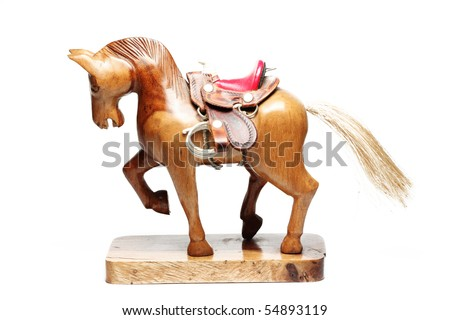 colorful small wooden horse