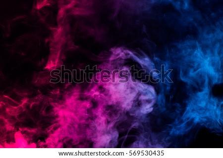 colorful smoke on dark background