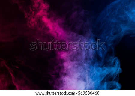 colorful smoke on dark background - Shutterstock ID 569530468