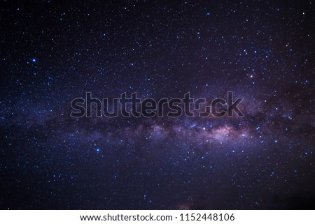 Colorful space shot of milky way galaxy with stars and space dust.
