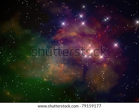 Colorful space star nebula