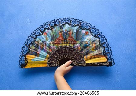 Colorful Spanish fan