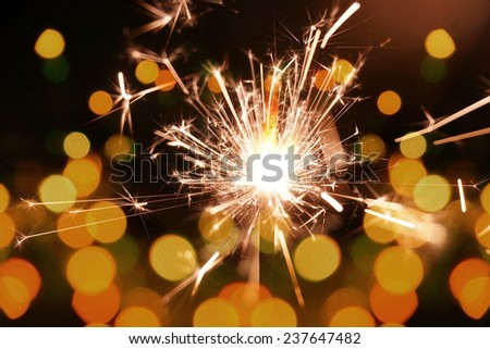 colorful sparkler, New Year celebration #237647482