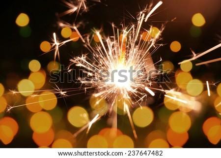 colorful sparkler, New Year celebration #237647482