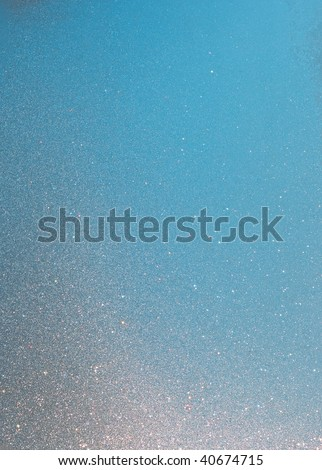 Colorful sparkling window frost texture