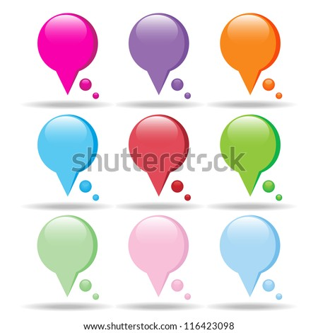 colorful speech bubbles (raster version of the vector)