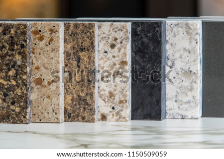 Kitchen Counters, samples, colors, granite, marble, quartz