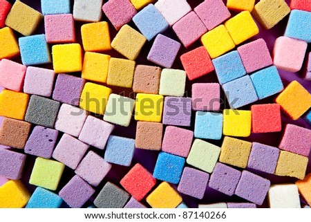 colorful square foam cubes texture for decorative arts