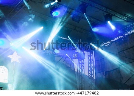 Colorful stage lights #447179482