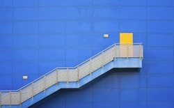 Colorful stair case to success