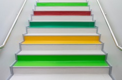 colorful stair in the building