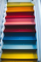 Colorful stairs in Amsterdam