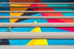 Colorful stairs in Thailand