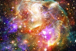 Colorful starry outer space background. The elements of this image furnished by NASA.