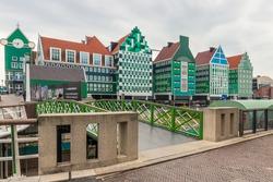 Colorful Station in Zaandam near Amsterdam, Noordholland, Netherlands