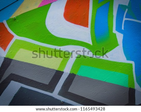 Colorful steel blue, light steel blue and dark cyan stripes on canvas, textile, paper.  #1165493428