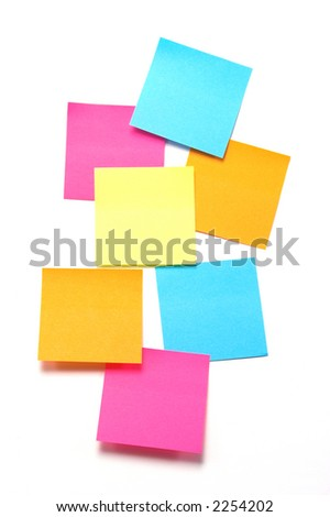 Colorful sticky notes...blank and ready for copy