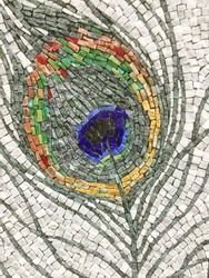 Colorful stone mosaic art and abstract wall background