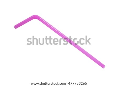 colorful straw collection isolated on white #477753265