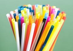 Colorful straws macro