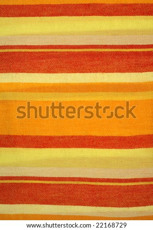 Colorful striped cotton fabric background