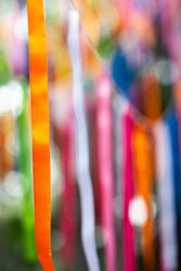 Colorful stripes with some bokeh background.