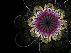 Colorful stylish fractal flower