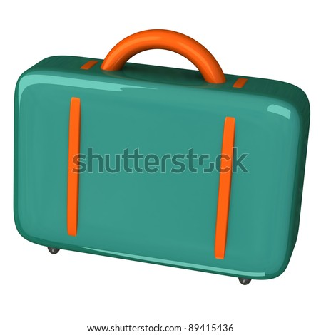 Colorful suitcase icon 3d