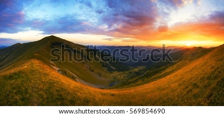 colorful summer landscape in the mountains, dramatic scene,  wonderful world #569854690