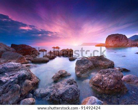 Colorful summer seascape