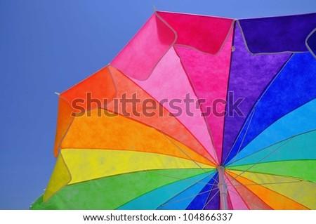 colorful sun umbrella