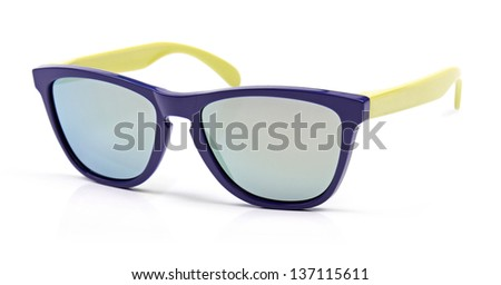 colorful sunglasses isolated on white
