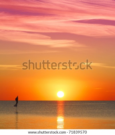 Colorful Sunrise - stock photo