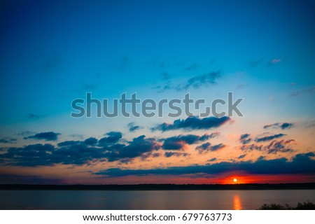 Colorful Sunrise Lake #679763773