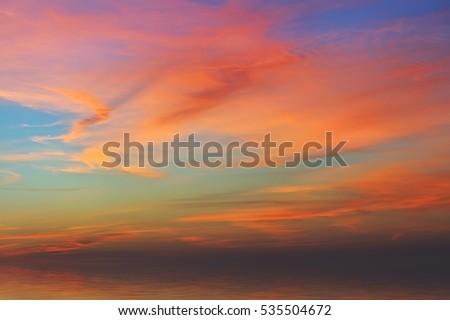 colorful sunrise over the sea ...