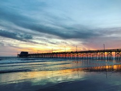 Colorful Sunset from Newport Beach Pier