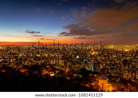 Colorful sunset in Belo Horizonte #1081451129