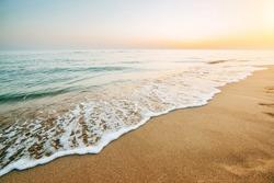 Colorful sunset over the sea. beautiful landscape